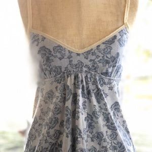Abercrombie & Fitch Blue Floral tank top